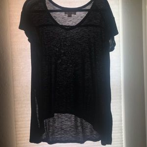 Black High-Low T-shirt